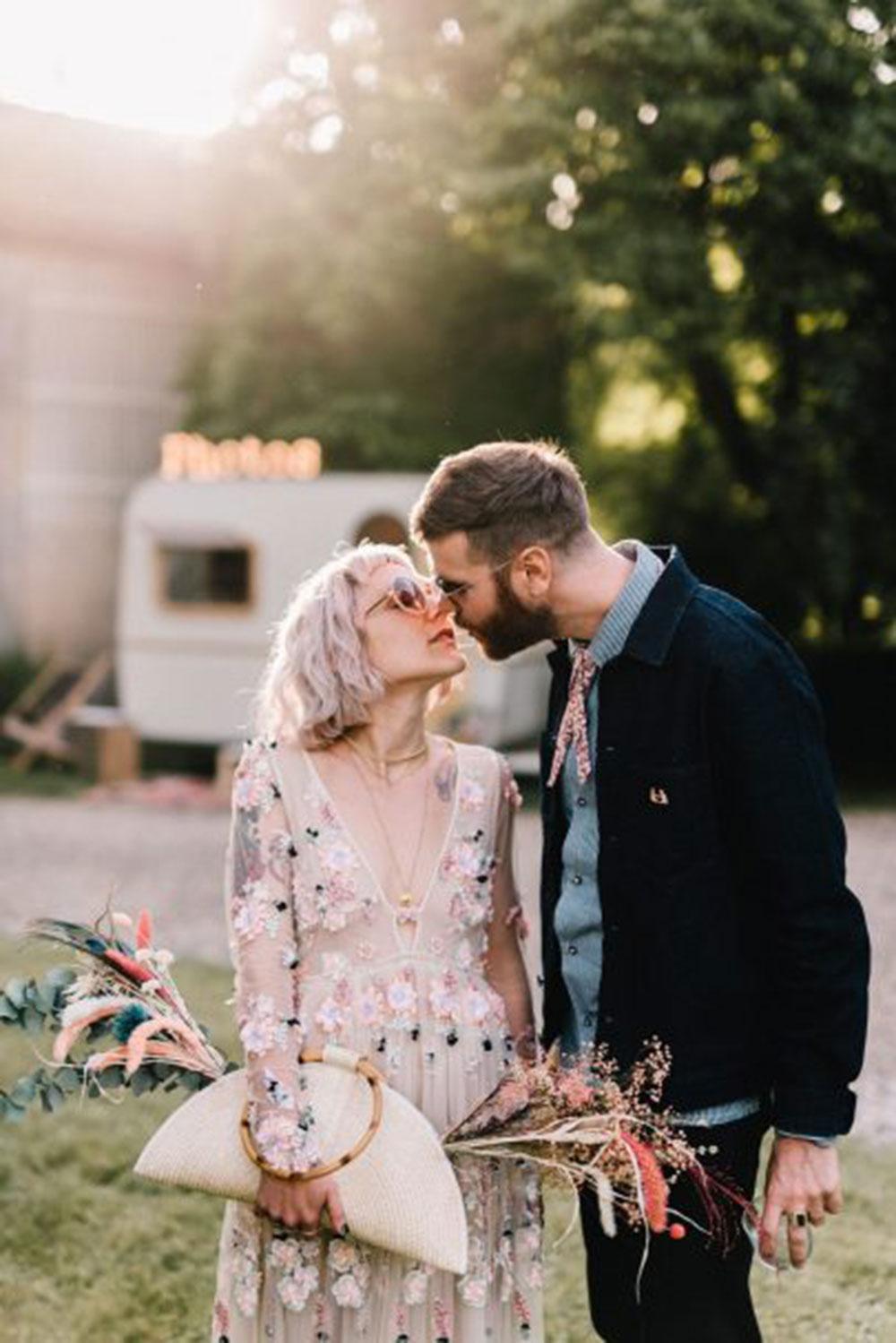 La caravane photobooth lors d'un mariage en dordogne