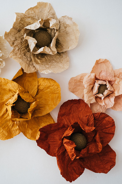 Création d'un fond photocall en fleur papier