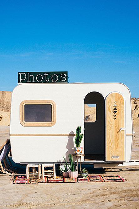 Caravane photobooth - en location à Bordeaux