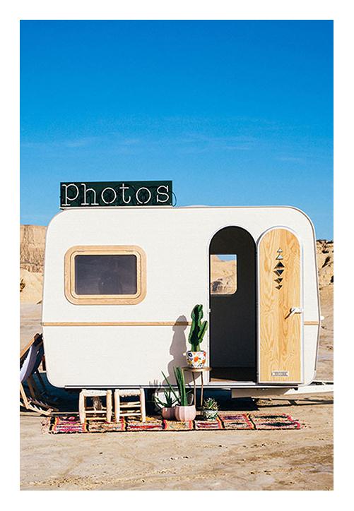 caravane photobooth - au milieu du désert