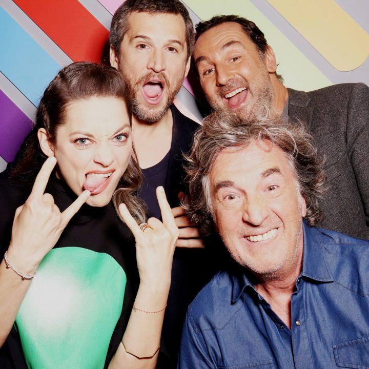 Borne photo - chez Quotidien avec Guillaume Canet, Gilles Lellouche, Marion Cotillard, François Cluzet