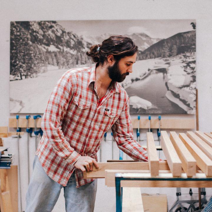 Fabrication de borne photo en bois