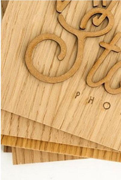 Wild Box - plaque arrière personnalisée en bois gravé et découpé