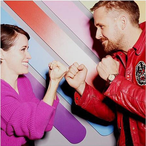 Borne photo - chez Quotidien avec Ryan Gosling & Claire Foy